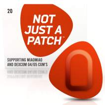NOT JUST A PATCH – G5 G4 Dex-com CGM Adhesive Patch – Libre Sensor Patches – Miao-Miao Freestyle Adhesive Patches – Hypoallergenic Waterproof Adhesive – 20 Pack CGM Patches for Diabetic – Orange