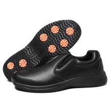 aeepd Men Chef Shoes for Kitchen Food Service Slip Resistant Slip on Sneakers Water Resistant Comfortable Work Shoes Black
