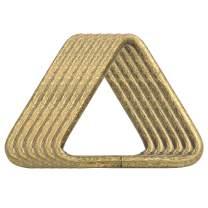BIKICOCO 1-1/2'' Metal Triangle Ring Buckle Connectors Non Welded Round Edge Webbing Bag Clasp Handbag Strap Making Hardware, Bronze - Pack of 6