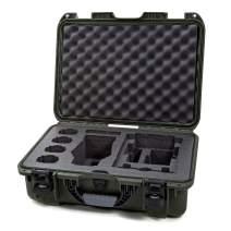"Nanuk 925 Waterproof Hard Case with Foam Insert for DJI Mavic 2 Pro|Zoom + Smart Controller, Crystalsky 5.5"" or iPad - Olive"