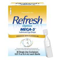 Refresh Optive Mega-3 Lubricant Single-Use Sterile Containers Eye Drops 30 ea (Pack of 3)
