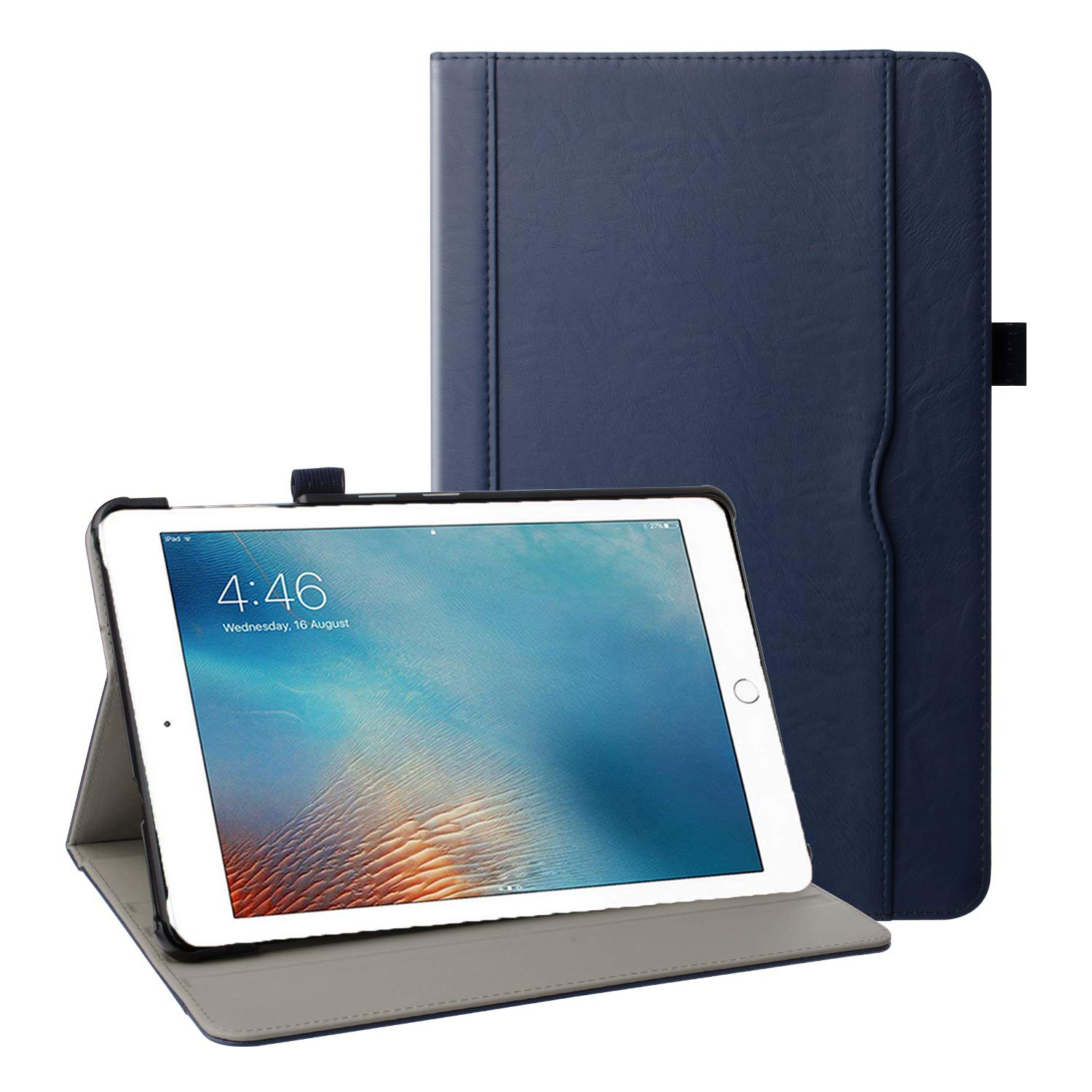 """Grifobes iPad Air 3 Case 10.5"""" 2019/iPad Pro 10.5 Case 2017,Premium Leather Slim Multi-Angle Viewing Stand Folio Protective Case with Auto Wake/Sleep for iPad Air 3rd Generation 10.5"""" 2019,Blue"""