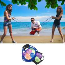 ANREONER Water Balloons Launcher, Water Bomb Cannon/ Slingshot Fun Water Balloon Fight Pool Party Toy, 3 Person Beach Games Toys, 500 Balloons