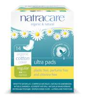 Natracare Natural Ultra Pads with Wings, Regular, 14 Count