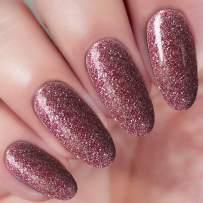 2 In 1 Dip Powder Acrylic Nail Powder Purple Red Glitter (Added Vitamin and Calcium) I.B.N Glitter Dipping Powder 1 Ounce, Non-Toxic & Odor-Free, No Need UV LED Nail Lamp (103)