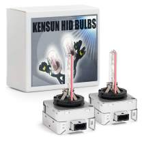 Premium HID Xenon Low Beam Headlight Replacement Bulbs - by Kensun - (Pack of two bulbs) - D1S - 3000K