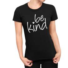 Go All Out Womens Be Kind Heart T-Shirt