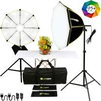 LITEBOX Photography Lighting Kit with Stands (Beginner Friendly) - Softbox Lights for Video Filming (No Strobe) - 5500K 95+ CRI