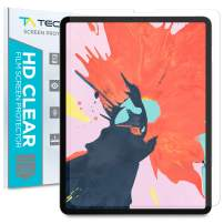 Tech Armor HD Clear Plastic Film Screen Protector (Not Glass) Designed for Apple iPad Pro 12.9-inch (2020 and 2018) [2-Pack]