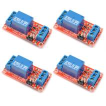 Oiyagai 4pcs 24V One 1 Channel Relay Module Board Shield with optocoupler Support High and Low Level Trigger
