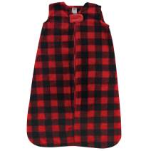 Hudson Baby Unisex Baby Long-Sleeve Plush Sleeping Bag, Sack, Blanket, Buffalo Plaid, 6-12 Months