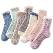 Durio Warm Fuzzy Socks for Women Crew Slipper Socks Winter Fluffy Casual Sleeping Cozy Cabin Cute Girls Socks