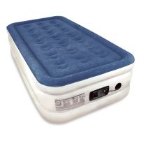 SoundAsleep Raised Twin Size Premium Air Mattress - Best Inflatable Airbed with Plush Top and Internal High Capacity Pump - Exclusively with ComfortCoil Technology & No Hassle 1-Year Warranty