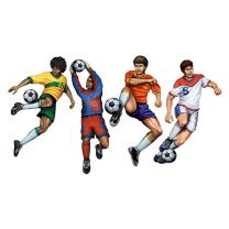 Beistle 4-Pack Packaged Soccer Cutouts, 20-Inch