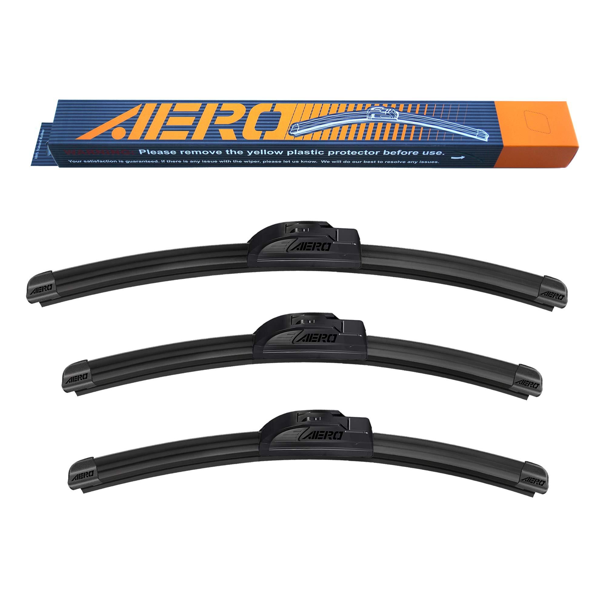 "AERO 16""+14""+14"" Premium All-Season Beam Windshield Wiper Blades OEM Replacement for Toyota FJ Cruiser 2013-2007 (Set of 3)"