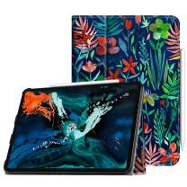"Fintie Folio Case for iPad Pro 12.9"" 3rd Gen 2018 [Supports 2nd Gen Pencil Charging Mode] - Vegan Leather Folio Smart Stand Cover with [Secure Pencil Holder] Auto Sleep/Wake, Jungle Night"