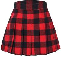 SANGTREE Girls Women's Pleated Skirt with Comfy Stretchy Band, 2 Years - US 2XL