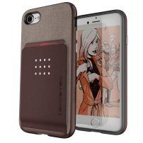 iPhone 8 & iPhone 7 Wallet Case Ghostek Exec2 Series Military Grade Drop Tested | Brown