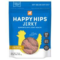 Happy Hips 100% Meat Jerky Dog Treats, Grain Free with Glucosamine & Chondroitin for Joint Support