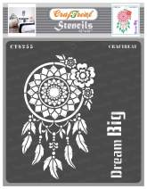 CrafTreat Dream Catcher Stencils for Painting on Wood, Wall, Tile, Canvas, Paper, Fabric and Floor - Dream Big - 12x12 Inches - Reusable DIY Art and Craft Stencils - Dream Catcher Stencil Large