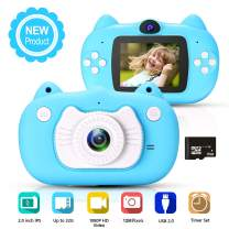 hyleton Kids Digital Camera for Boys Girls Gift, Dual Lens 1080P 12MP FHD Child Toy Camera Camcorder with Zoom Function &16GB SD Card for Age 3-10
