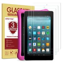 OMOTON Screen Protector for All-New Fire 7 / Fire 7 Kids Edition Tablet (9th/7th Gen, 2019/2017 Release) - Tempered Glass/High Definition / 9H Hardness