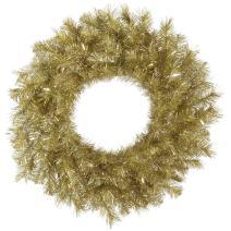 "Vickerman Unlit Gold/Silver Tinsel Artificial Wreath, 36"", Gold/Silver"