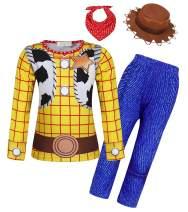 Jurebecia Boys and Girls Unisex-Child Jessie Woody Pajamas Costume Long Sleeve Pants Suit Hoodie Coat 1-12 Years