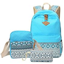 HITOP Backpacks for Teen Girls, Cute Fashion School Student Bookbag Set, Laptop Bag Shoulder Bag Pencil Bag 3 in 1 … (Blue (1set))
