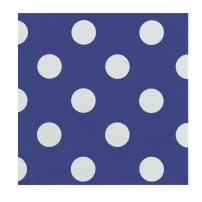 JAM PAPER Small Polka Dot Beverage Napkins - 5 x 5 - Royal Blue with Polka Dots - 16/Pack