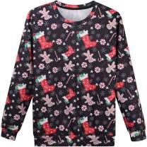 Hsctek Ugly Christmas Sweater Sweatshirts for Unisex Adult