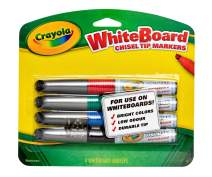 Crayola Dry Erase Markers, Broad Line, Office Supplies, 4 Count