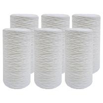 Tier1 10 inch x 4.5 inch (5 Micron) String-Wound Sediment Water Filter (6 Pack)