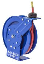 """Coxreels P-LP-325 Low Pressure Retractable Air/Water Hose Reel: 3/8"""" I.D., 25' Hose Capacity, with hose, 300 PSI, Made in USA"""