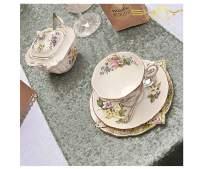 ShinyBeauty Grey Sequin Table Runner 12''x72'' Party Supplies Runner Wedding Shower Decorations ~0226S