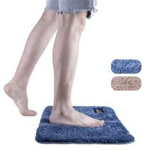 LOMOFI Bath Mat | Premium Non-Slip Bathroom Rug with Soft Microfiber, Absorbent, Dry Fast Design, Machine-Washable | 40 X 60 cm - Blue