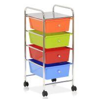 Furinno Wayar 4-Drawer Trolley, Chrome