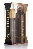 Colour Me   Femme Gold   Eau de Toilette and Body Spray   Perfume 2 Piece Gift Set   Womens Fragrance   Oriental Fruity Scent   EDT Spray - 3.4 oz /  Body Spray - 5.1 oz