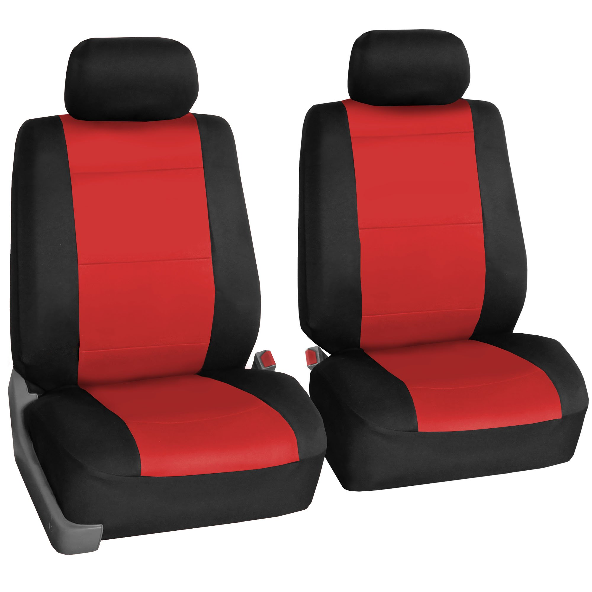 FH Group FB083RED102 Red-Half Neoprene Bucket Seat Cover Airbag Compatible
