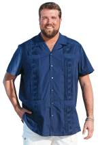 KS Island by Kingsize Men's Big & Tall Short-Sleeve Guayabera Shirt