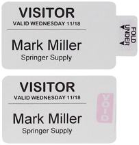 C-Line Time's Up! One-Part Self-Expiring Security Badges for Direct Thermal Printers, 2 x 4 Inches, 250 per Box (97017)