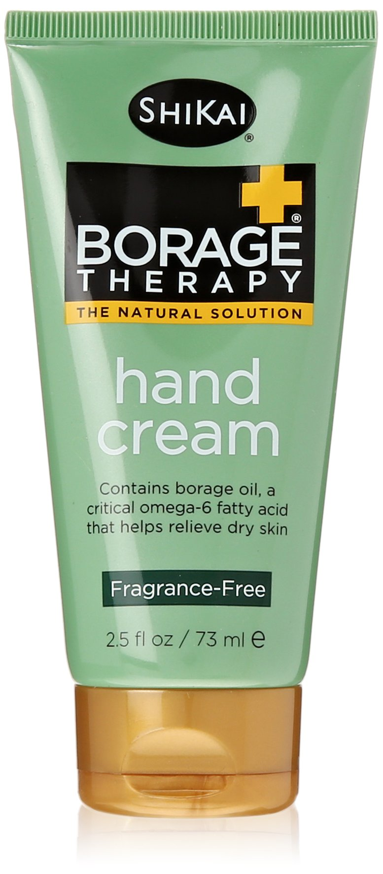 ShiKai - Borage Therapy Plant-Based Hand Cream, Soothing & Moisturizing Relief For Dry, Red and Itchy Skin, Non-Greasy, Sensitive Skin Friendly (Fragrance-Free, 2.5 Ounces)