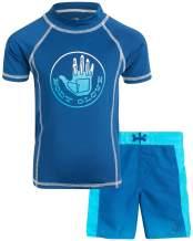 Body Glove Boys 2-Piece UPF 50+ Rash Guard Swimsuit Set (Little Boys)
