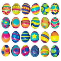 24 PCS Colorful and Squishy Eggs for Easter Eggs Hunt, Slow Rising Stress Relief Super Soft Squeeze Easter Eggs, Easter Basket Stuffer, Assorted Colors, Party Favors