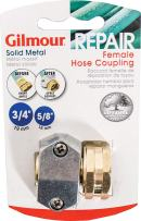 10 Pack - Gilmour Heavy Duty Brass and Zinc Female Hose Repair Mender - Clamp Coupling for Garden Hoses - 01FZ