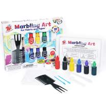 TBC The Best Crafts Marbling Art Paint Kit, 6 Bottles Marbling Inks(19ml Each), Art of Painting on Water, Ebru Art, Suminagashi, Creative Toys & Gifts, Arts and Crafts Paint Set