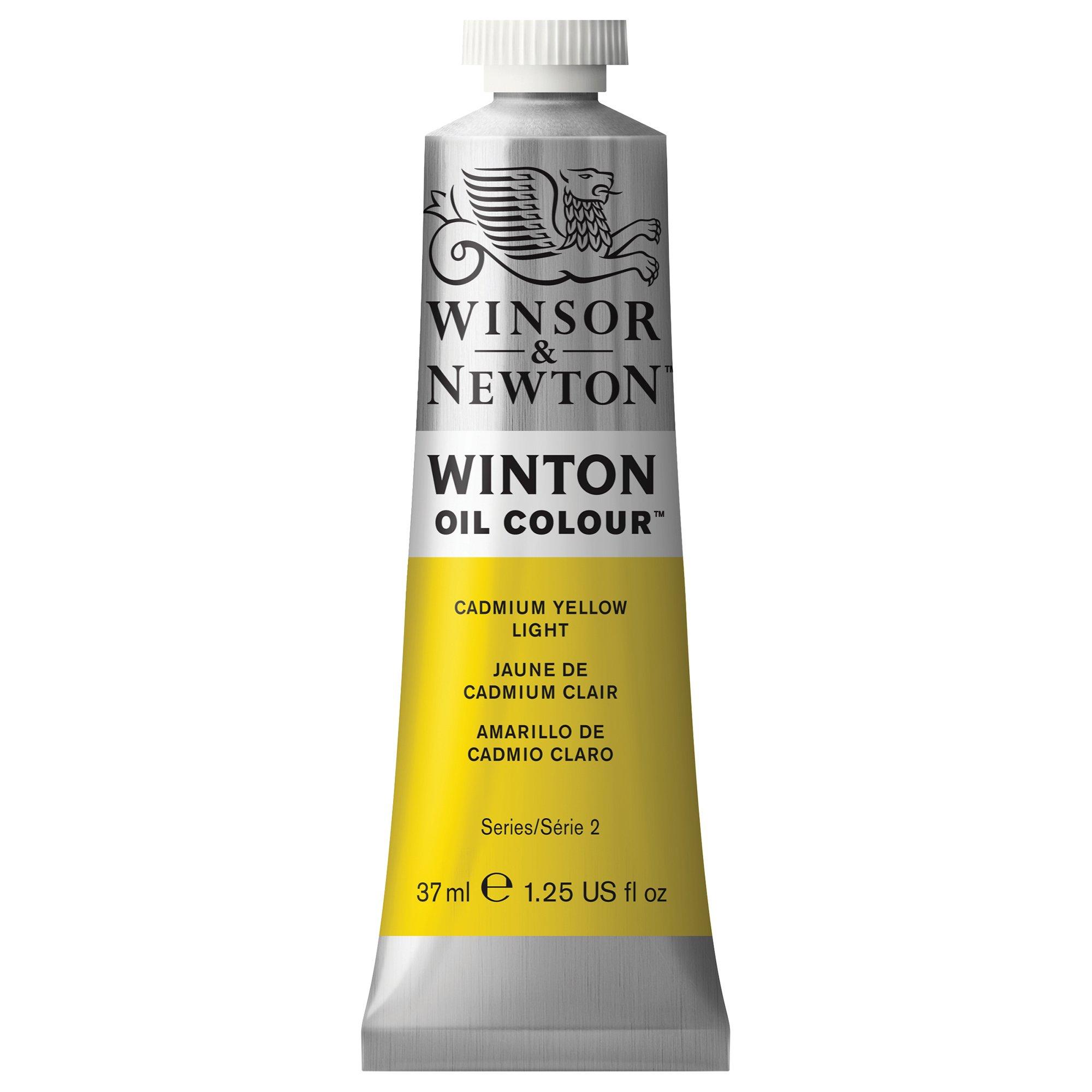 Winsor & Newton Winton Oil Colour Paint, 37ml tube, Cadmium Yellow Light