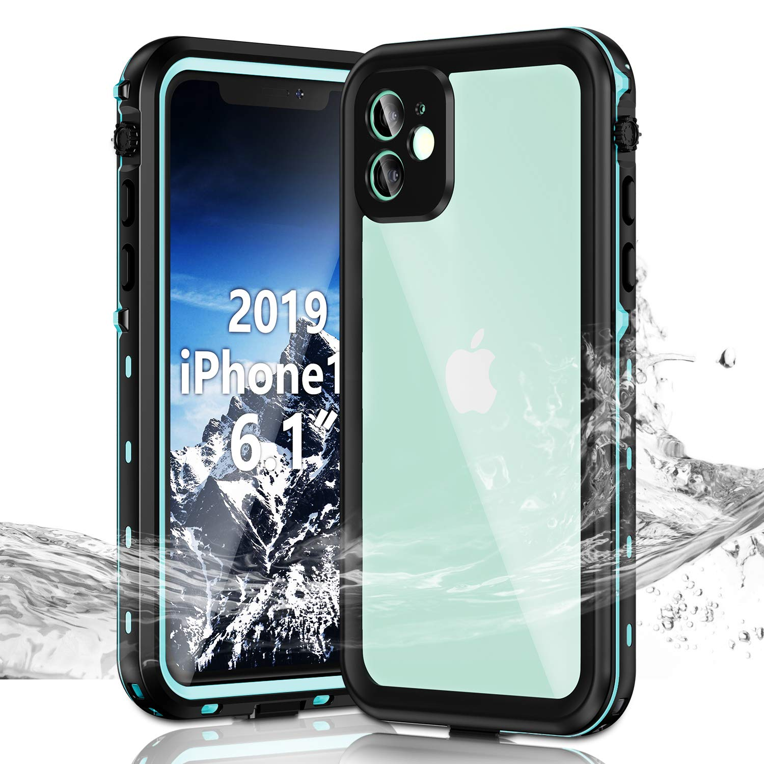 Janazan iPhone 11 Waterproof Case, Full Sealed Underwater Protective Cover, Waterproof Shockproof Snowproof Dirtproof with Built-in Screen Protector for iPhone 11 6.1 inch 2019 (Blue)