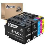 Sotek Remanufactured Ink Cartridge Replacement for 932XL 933XL, Use with Officejet 6100 6600 6700 6700N Officejet 7110 7610 7612 Officejet 7510/7512 (BK/C/M/Y + 1BK,5 Pack)
