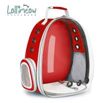 Lollimeow Pet Carrier Backpack, Bubble Backpack Carrier, Cats and Puppies,Airline-Approved, Designed for Travel, Hiking, Walking & Outdoor Use